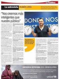 Entrevista a Rubén Uría en Sport (Foto: Beatriz Pedraza)